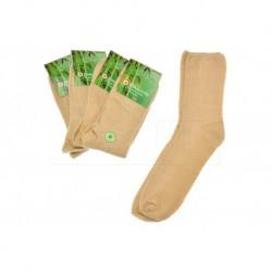 Pánské zdravotní bambusové ponožky - béžově hnědé - 5 párů - Pesail