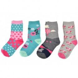 Dětské ponožky - mix barev - 4 páry - Looken