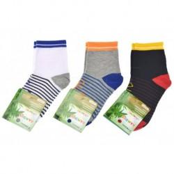 Dětské bambusové ponožky QM-5031 - mix barev - 3 páry - Pesail