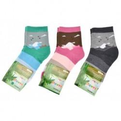 Dětské bambusové ponožky QM-3029 - mix barev - 3 páry - Pesail