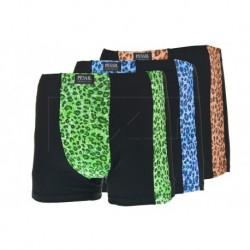Pánské bambusové boxerky se vzorem pumy - mix barev - 1 ks - Pesail