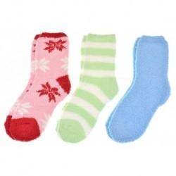 Dámské chlupaté termo ponožky - mix barev - 3 ks - Emi Ross