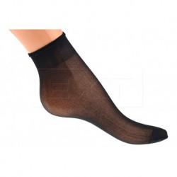 Dámské silonové ponožky - typ Iva - černé - 1 pár - Zuzka - velikost 23-27
