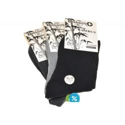 Dámské bambusové zdravotní klasické ponožky ZW220B - 3 páry - Pesail