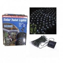Solární LED řetěz 100 LED - bílý