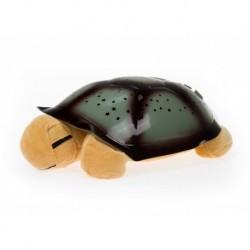 Projektor hvězd - magická želvička - hnědá - hrající
