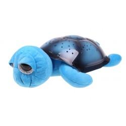Projektor hvězd - magická želvička s velkýma očima - hrající - modrá