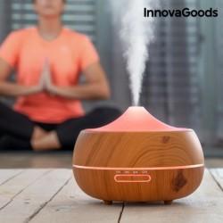 Zvlhčovač vzduchu s aromadifuzérem - LED Wooden-Effect - InnovaGoods