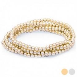 Dámský náramek s krystalovými perlami 144816 - zlatý