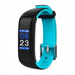 Fitness náramek Brigmton BSport-15-A, 0,96 OLED, Bluetooth 4.0, IP67 - modrý