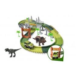 Dětská autodráha - Jurský park - šířka 7 cm - 244 dílků