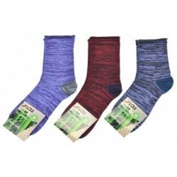 Dámské bambusové zdravotní ponožky - strakaté - mix barev - 3 páry - Rota