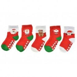 Dětské ponožky s protiskluzovou podrážkou - mix motivů - 5 párů - Auravia
