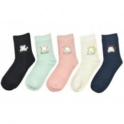 Dámské bambusové ponožky s kočičkou - mix barev - 5 párů - Auravia