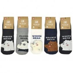 Dámské ponožky s medvídkem - mix barev - 5 párů - Auravia