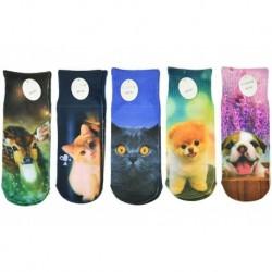 Dětské ponožky s celopotiskem zvířátek - mix motivů - 5 párů - Auravia