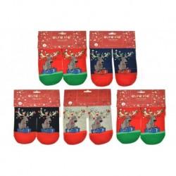 Dámské ponožky s vánočními motivy - mix motivů - 5 párů - Auravia