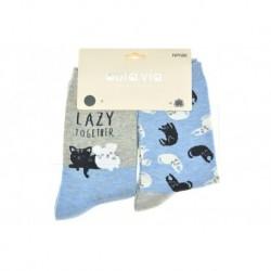 Dámské ponožky - kočky a myši - mix motivů - 2 páry - Auravia