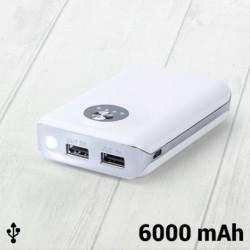 Powerbanka s 2x USB 144962 - 6000 mAh - bílá