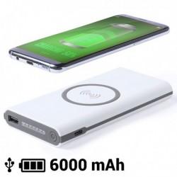 Bezdrátová powerbanka LED Micro USB - 6000 mAh