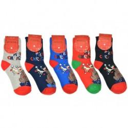Dámské termo ponožky - vánoční motivy - 5 párů - Auravia