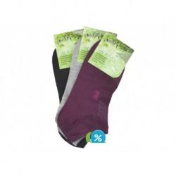Dámské kotníkové bambusové ponožky NW10103 - 3 páry - Naige
