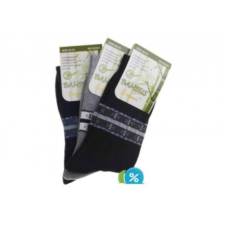 Pánské bambusové ponožky S2343 - 3 páry - Pesail
