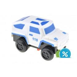 Nové autíčko ke svítící autodráze - šířka 6 cm - bílé
