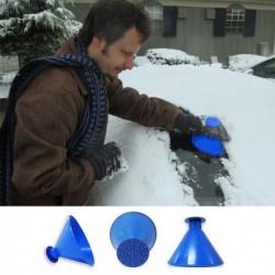 Multifunkční škrabka na zamrzlá okna + trychtýř na dolévání tekutin - modrá