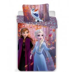 Bavlněné povlečení Ledové Království 2 - sestry - růžové - 140 x 200 cm - Jerry Fabrics
