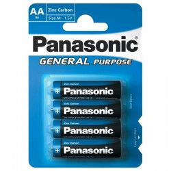 AA baterie General Purpose R6BE/4BP - 4 ks - 1,5 V - Panasonic