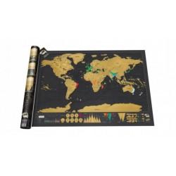 Stírací mapa světa - Deluxe Edition