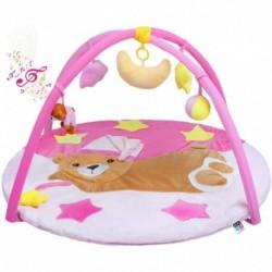 Hrací deka s melodií - spící medvídek - růžová - PlayTo