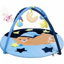 Hrací deka s melodií - spící medvídek - modrá - PlayTo