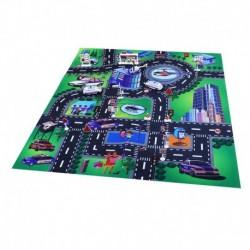 Hrací koberec - policie s kovovými auty - Rappa
