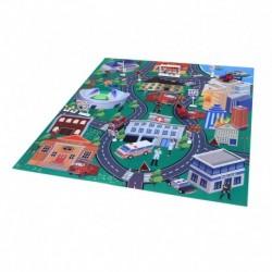 Hrací koberec - hasiči s kovovými auty - Rappa