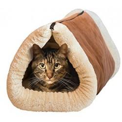 Plyšový pelíšek a podložka pro kočičku 2 v 1