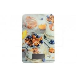 Skleněná kuchyňská digitální váha do 5 kg - 22 x 16 cm - cereálie - EH