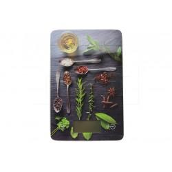 Skleněná kuchyňská digitální váha do 5 kg - 22 x 16 cm - koření, mix motivů - EH