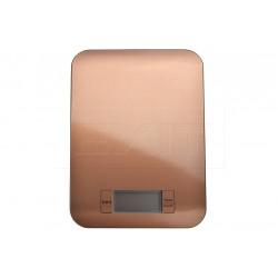 Nerezová kuchyňská digitální váha do 5 kg - 22 x 16 cm - měděná barva - EH