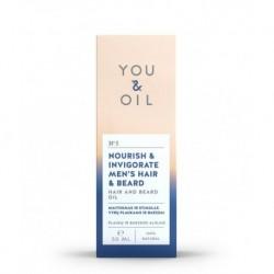 Posilující pánský olej pro vlasy a vousy - 50 ml - YOU & OIL