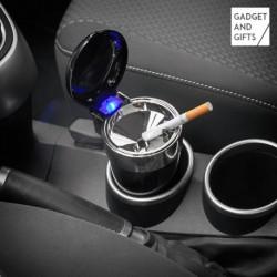 Popelník do auta s víčkem a LED světlem - Gadget and Gifts