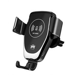 Držák telefonu do auta s Qi nabíječkou - bílý