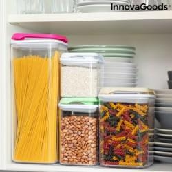 Sada stohovatelných hermeticky uzavřených kuchyňských nádob Pilocks - 4 ks - InnovaGoods