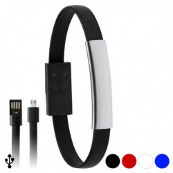 Náramek s napájecím micro USB kabelem - modrý