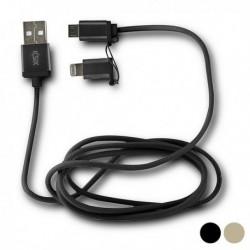 Napájecí micro USB kabel s Lightning adaptérem - KSIX