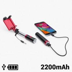 Selfie tyč s powerbankou - 2200 mAh - 145200