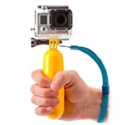 Plovoucí selfie tyč pro sportovní kameru - žlutá