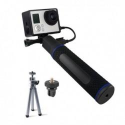 Selfie tyč s powerbankou pro sportovní kameru - 5200 mAh - černá