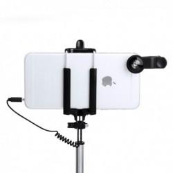 Sada selfie tyče s přídavnými čočkami - 5 ks - 144940 - černá